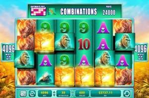 4 multipliers Raging Rhino Slot